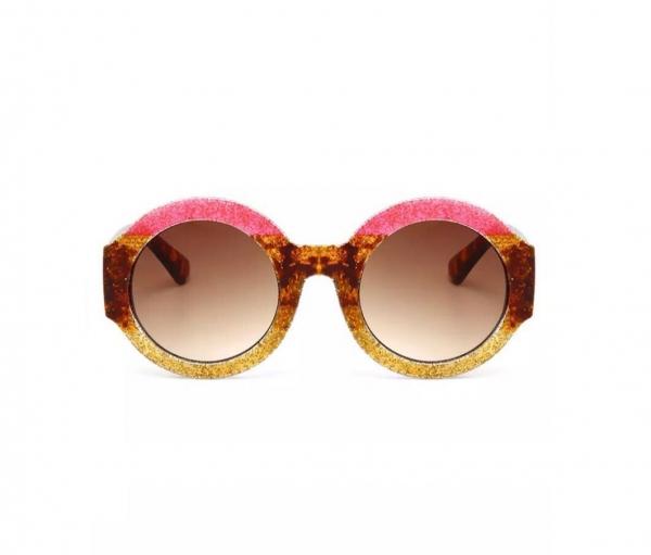 Ochelari de Soare Rotunzi Roz 0