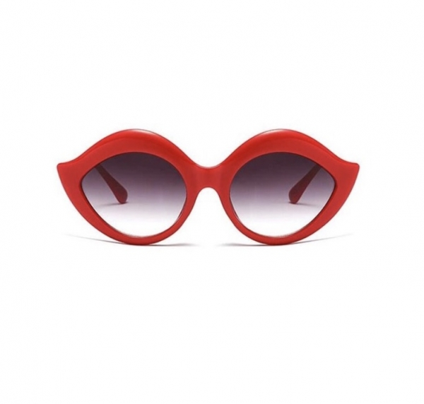 Ochelari de Soare Rosii cu Buze 0