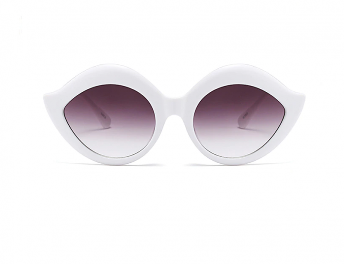 Ochelari de Soare Albi cu Buze 0