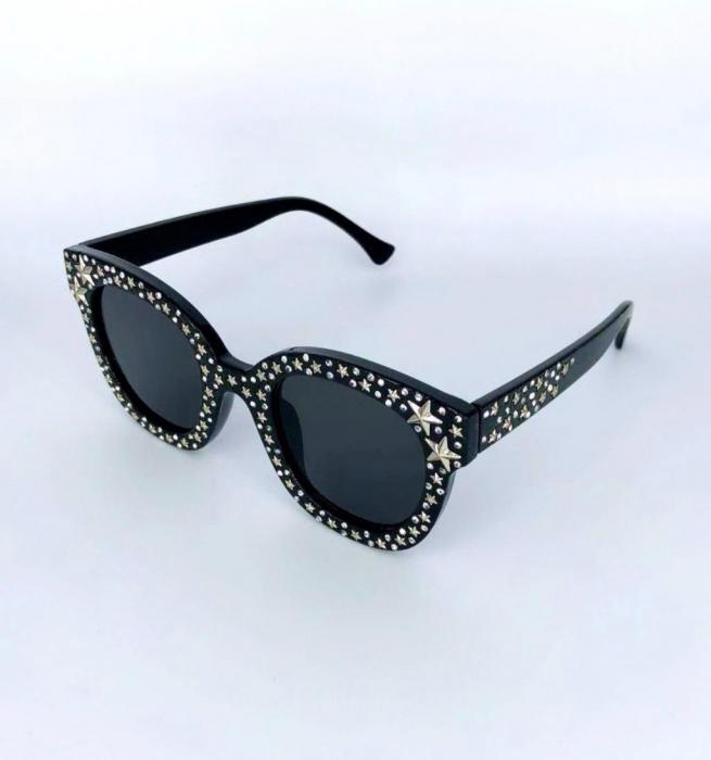 Ochelari de Soare Negri cu Stele 19