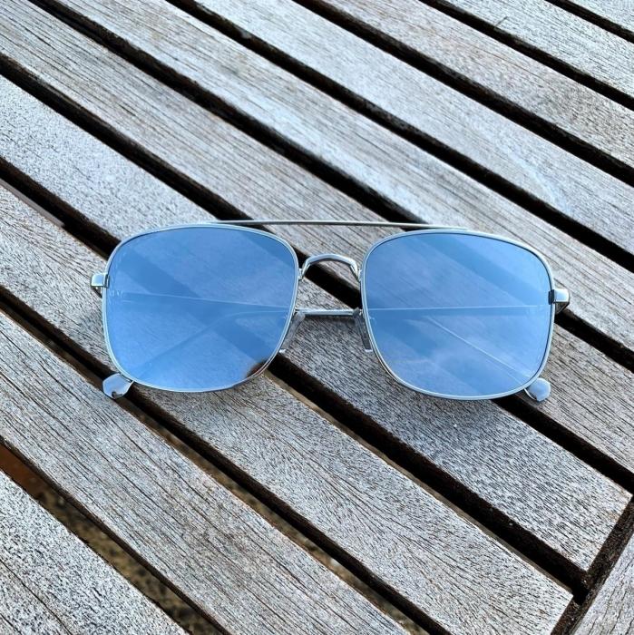 Ochelari de Soare Unisex Argintii Oglinda 0