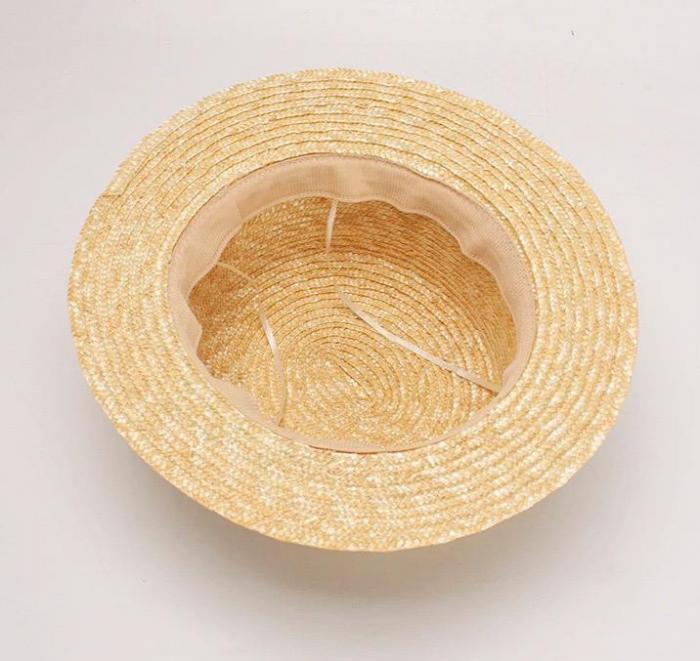 Canotiera Handmade din paie cu funda Roz deschissi albina 6