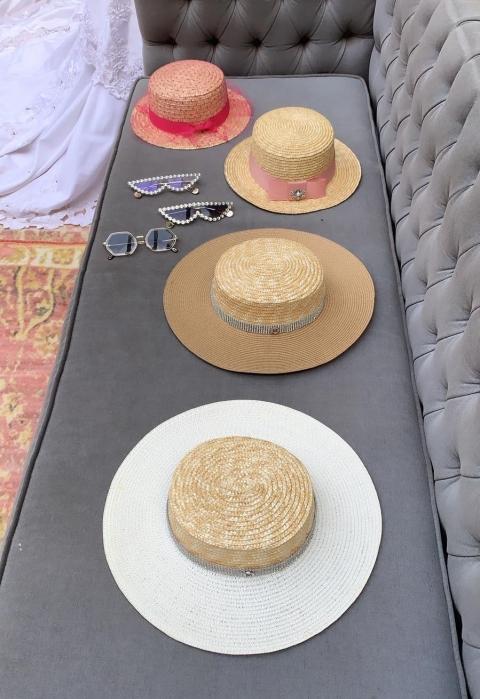 Palarie de Soare Handmade din paie in 2 culori 3